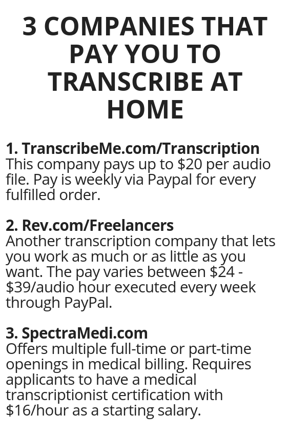 3 Companies That Pay You To Transcribe At Home Wisdom Lives Here
